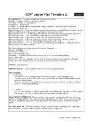 language arts 6th grade lesson plan