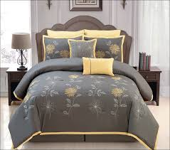 bedroom fabulous gray blue and yellow bedding mustard yellow bed