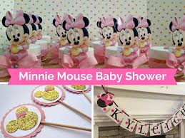 minnie mouse baby shower decorations and party favors baby