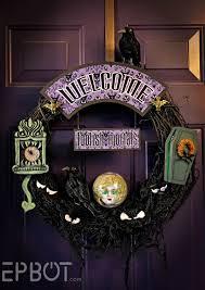 halloween door wreaths epbot my disney u0027s haunted mansion inspired wreath