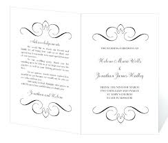 wedding bulletin template free celebration of program template instant