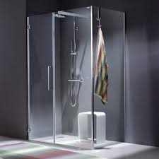 Blubleu by Glass Shower Cubicle Stainless Steel Corner With Hinged Door