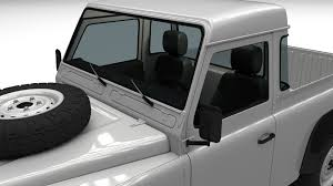 land rover defender interior land rover defender 90 pick up w interior hdri by dragosburian