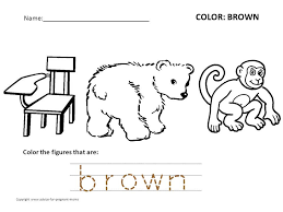 coloring pages brown worksheets colouring pages color worksheet