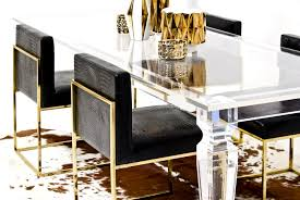 furniture exciting palm beach lucite dining table modshop wood