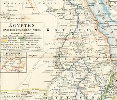 Colonial Map Colonial Egypt Map Print Darfur Map Abyssinia Map Red Sea