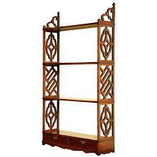 rare chinese chippendale rosewood fretwork open bookshelf english