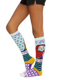knee high halloween socks the nightmare before christmas sally fair isle knee high socks