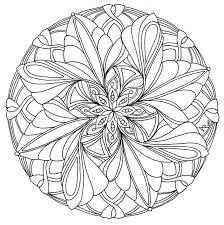 best simple mandala coloring pages free 203 printable coloringace com
