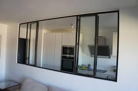 cloison vitree cuisine verrière et cloison atelier d artiste pour une cuisine ou une hotte