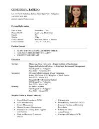 Sample Resume Philippines by Resume For Teachers In The Philippines