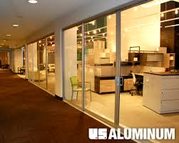 Interior Storefront Crl Arch Sliding Glass Doors