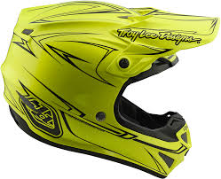 troy lee motocross gear 2018 troy lee designs se4 polyacrylite pinstripe helmet