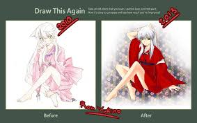 Inuyasha Memes - draw this again meme inuyasha female vers by ran yukino on deviantart