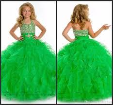 green dresses sweet gilrs wear halter neck crystal sequin beading