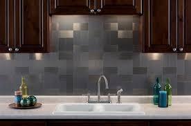metallic kitchen backsplash awesome metal tiles for kitchen backsplash