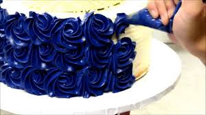 blue rosette wedding cake tutorial how to video youtube