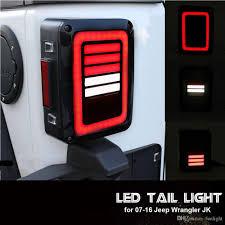jeep jk led tail light bulb led tail lights smoke lens for jeep wrangler 2007 2017 jk jku with