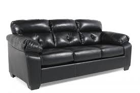 Black Leather Sofa Recliner Contemporary Tufted 87 Sofa In Midnight Black Mathis Brothers