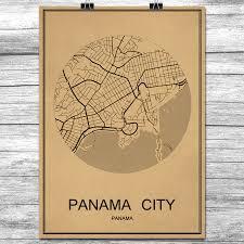 Panama City Map Online Get Cheap Panama Map Aliexpress Com Alibaba Group