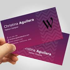 Business Card Fashion Designer Professional Business Card Calling Card Template By Indailounge