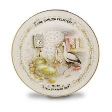 personalized china plates personalised china birth plate baby gifts from gettingpersonal
