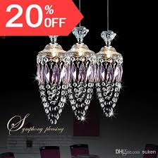 Crystal Bar Chandelier Modern Crystal Chandelier Pendant Lamp Stair Hanging Light Brief