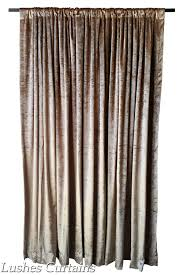 gold 96 inch high velvet curtain long panels custom made