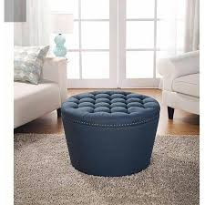 Tufted Storage Ottoman Amazon Com Better Homes And Gardens Round Tufted Storage Ottoman