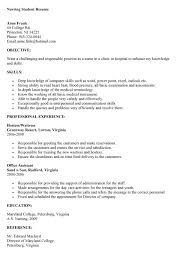 Office Nurse Resume Nursing Student Resume Graduate Nurse Resume Example We Provide