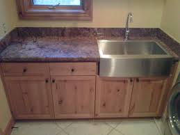 Laundry Room Cabinet With Sink Picturesque Chrome Rectangle Apron Front Laundry Sink With Wooden