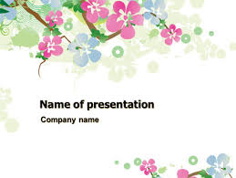 spring tree theme powerpoint template backgrounds 07710