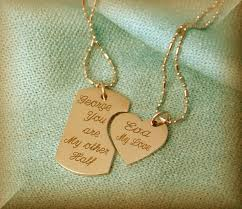 his and hers dog tags his hers necklace the necklace