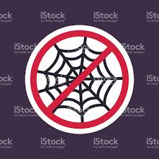 halloween text symbols no ban or stop signs spider web halloween icon stock vector art