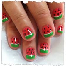watermelon nails for ava u0027s halloween costume posh nail art