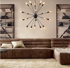 lodge chandelier loft satellite pendant lights 12 15 18 20 industrial light rustic