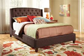 King Size Bed With Trundle Bedroom Upholstered Bed Frame King Upholstered Sleigh Bed