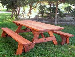 picnic table with separate benches custom picnic table detached benches made in u s a duchess