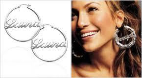 Hoop Earrings With Name Celebrity Necklaces Personalised Celebrity Jewellery Mynamenecklace