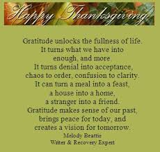 a thanksgiving message festival collections