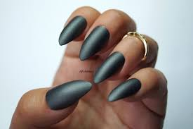 grey stiletto nails nail designs nail art matte nails acrylic
