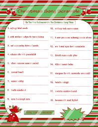 Free Printable Halloween Word Scramble by Christmas Scramble Christmas Song Game Printable Christmas
