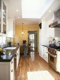 Black Galley Kitchen Kitchen Ktchen Cabinets Is Vinegar Safe For Granite Countertops