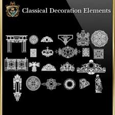 free classical decoration elements free cad blocks drawings