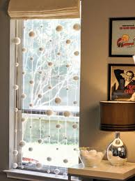 window dressing modern snowflake window dressing hgtv