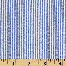Lightweight Fabric For Curtains Cotton Seersucker Stripe Royal White From Fabricdotcom This