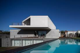 white concrete homes for simple and natural design 100homedesign
