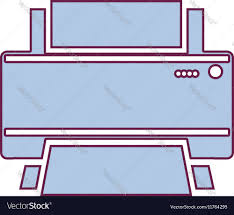 contour home printer in light purple color vector image