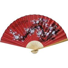 oriental fans wall decor chinese wall fans prosperity blossoms liked on polyvore featuring
