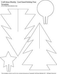 card sized paper christmas tree template 3d paper christmas